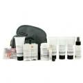 Travel Kit: Face Wash + Lotion + Shave Formula + Post-Shave Repair + Shampoo + Deodorant + Lip Protection + Eye Mask + Ear Plugs + Bag