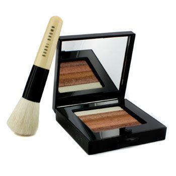 Bronze Shimmer Brick Set: Bronze Shimmer Brick Compact + Mini Face Blender Brush (Limited Edition)