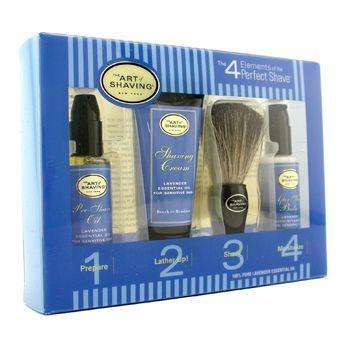 Starter Kit - Lavender: Pre Shave Oil + Shaving Cream + Brush + After Shave Balm