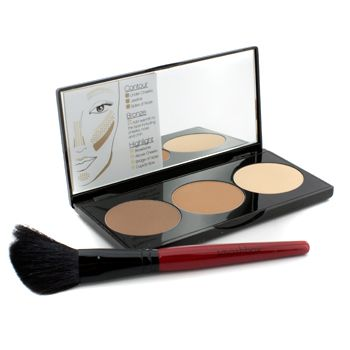 Step By Step Contour Kit (1 x Contour Palette + 1 x Contour Brush) - (Light/Medium)