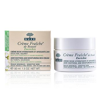 Creme Fraiche De Beaute Enrichie 24HR Soothing And Moisturizing Rich Cream (Dry to Very Dry Sensitive Skin)