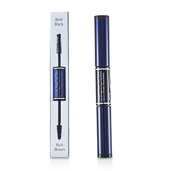 Double Wear Two Tone Zero Smudge Eye Opening Mascara - # 01 Bold Black/Rich Brown