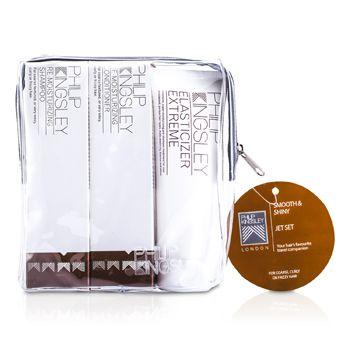 Smooth & Shiny Jet Set: Shampoo 75ml + Conditioner 75ml + Elasticizer Extreme 75ml PHI534C