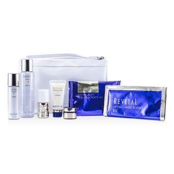 Revital Set: Cleansing Foam 20g + Lotion EX II 75ml + Serum 10ml + Moisturizer EX II 30ml + Cream 7ml + Eye Mask + Mask + Bag