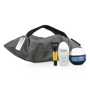 Blue Therapy X Mandarina Duck Coffret: Cream SPF15 N/C 50ml + Serum-In-Oil 10ml + Cleansing Water 30ml + Handle Bag