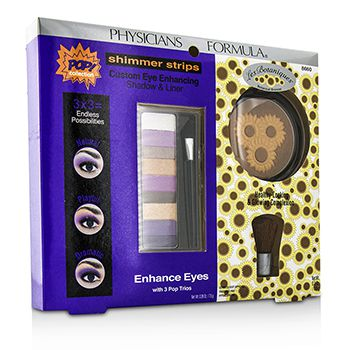 Makeup Set 8660: 1x Shimmer Strips Eye Enhancing Shadow, 1x Bontanical Bronzer, 1x Applicator