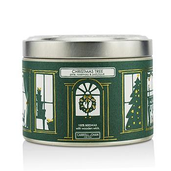 Tin Can Candle - Beeswax, Christmas Tree