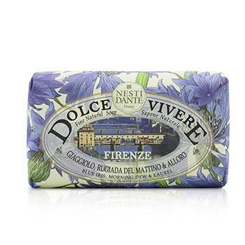 Dolce Vivere Fine Natural Soap - Firenze - Blue Iris, Morning Dew & Laurel