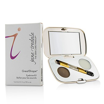 GreatShape Eyebrow Kit (1x Brow Powder, 1x Brow Wax, 1x Applicator) - Brunette