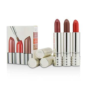 Long Last Lipstick Trio - #0A Runway Coral, #12 Blushing nude, #15 All Heart