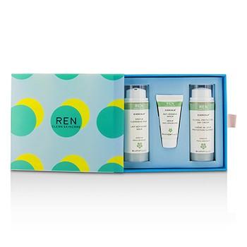 Evercalm Sensitive Skin Kit: 1x Gentle Cleansing Milk 50ml, 1x Anti-Redness Serum 10ml, 1x Global Protection Day Cream 50ml