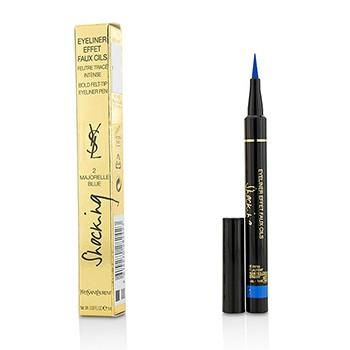 Eyeliner Effet Faux Cils Shocking (Bold Felt Tip Eyeliner Pen) - # 2 Majorelle Blue