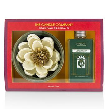 Christmas Tree Diffuser Flower Coffret: Diffusing Flower + Dish + Diffuser Oil 100ml