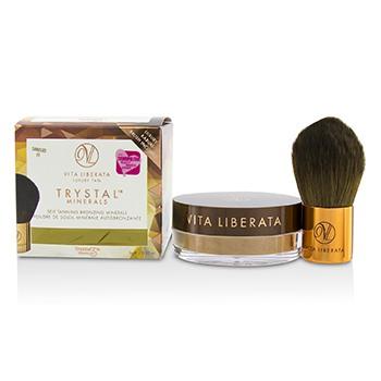 Trystal Minerals Self Tanning Bronzing Minerals With Kabuki Brush - # 01 Sunkissed